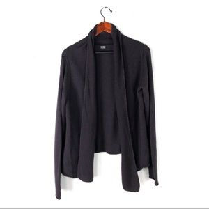 Eileen Fisher cardigan knit wool shawl open front